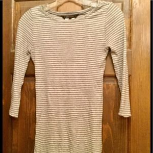 BCBG  Grey striped top  XS new with tags!